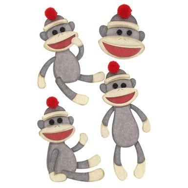 Sock Monkey Clip Art.