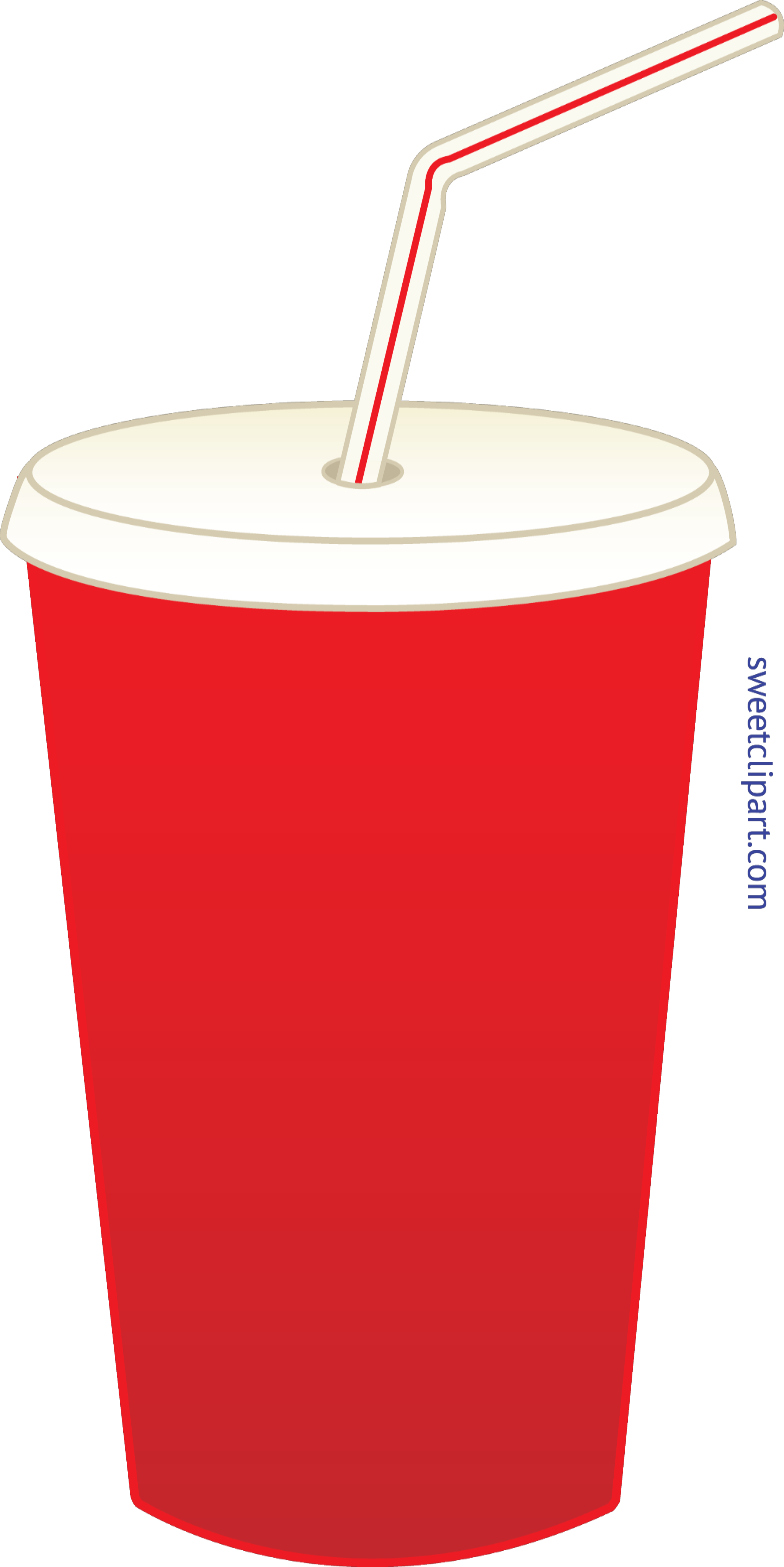 Soda Pop In Cup Clip Art.