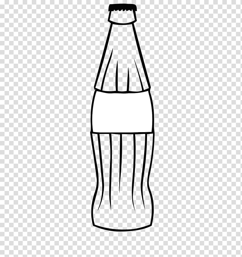 Soda bottle illustration, Coca.