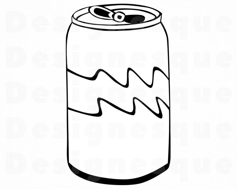 Soda Can SVG, Soda Can Clipart, Soda Can Files for Cricut, Soda Can Cut  Files For Silhouette, Soda Can Dxf, Soda Can Png, Eps, Vector.