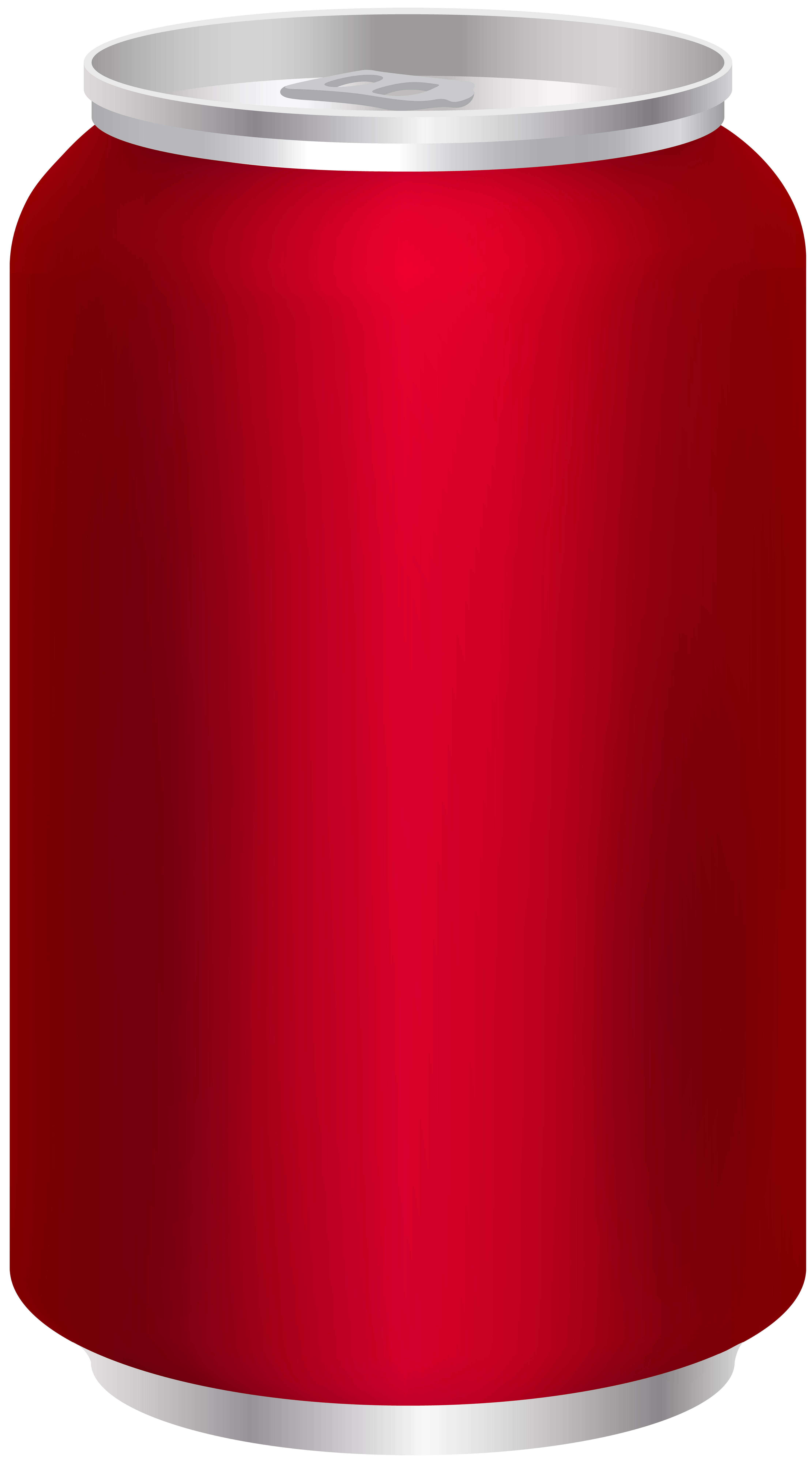 Soda Can Red Clip Art Image.