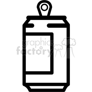 soda can icon clipart. Royalty.