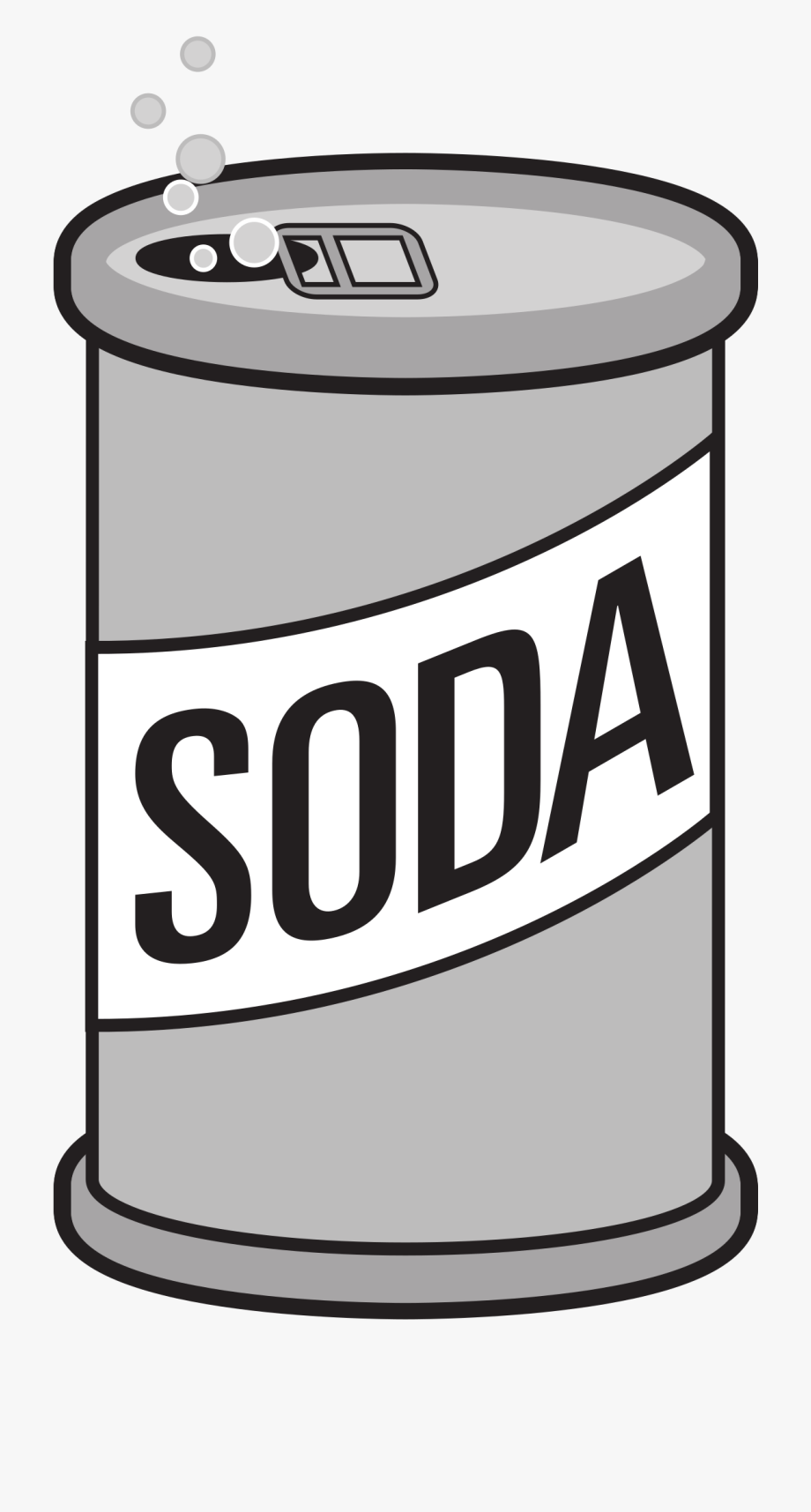 Soda Can Opened Big Image Png.