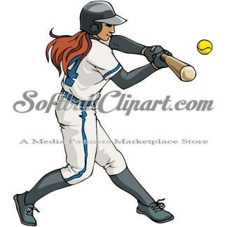 Softball Clipart Color.