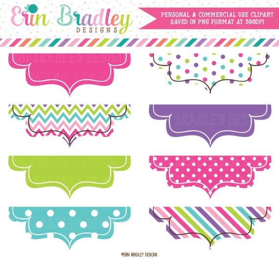 Colorful Frame Clipart Labels Personal & Commercial Use Clip Art Tag.