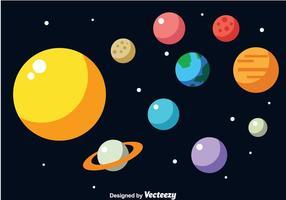 Solar System Free Vector Art.