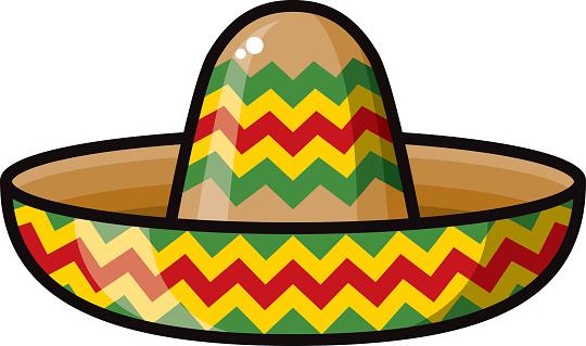 Mexican sombrero clipart clipart best.