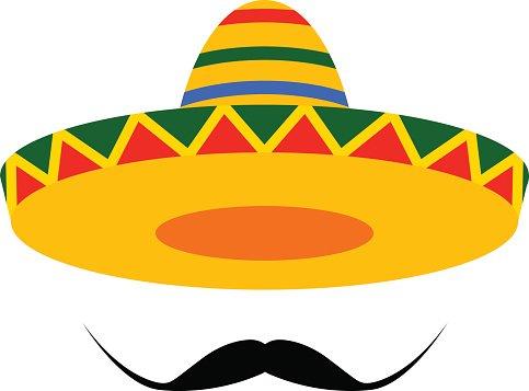 Sombrero Moustache premium clipart.