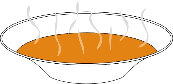 Steaming Pumpkin Soup clip art Free vector in Open office drawing.