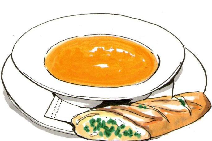 Soup clipart soup bread pencil and in color.