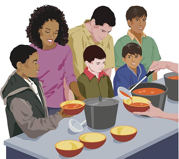 Best Soup Kitchen Illustrations, Royalty.