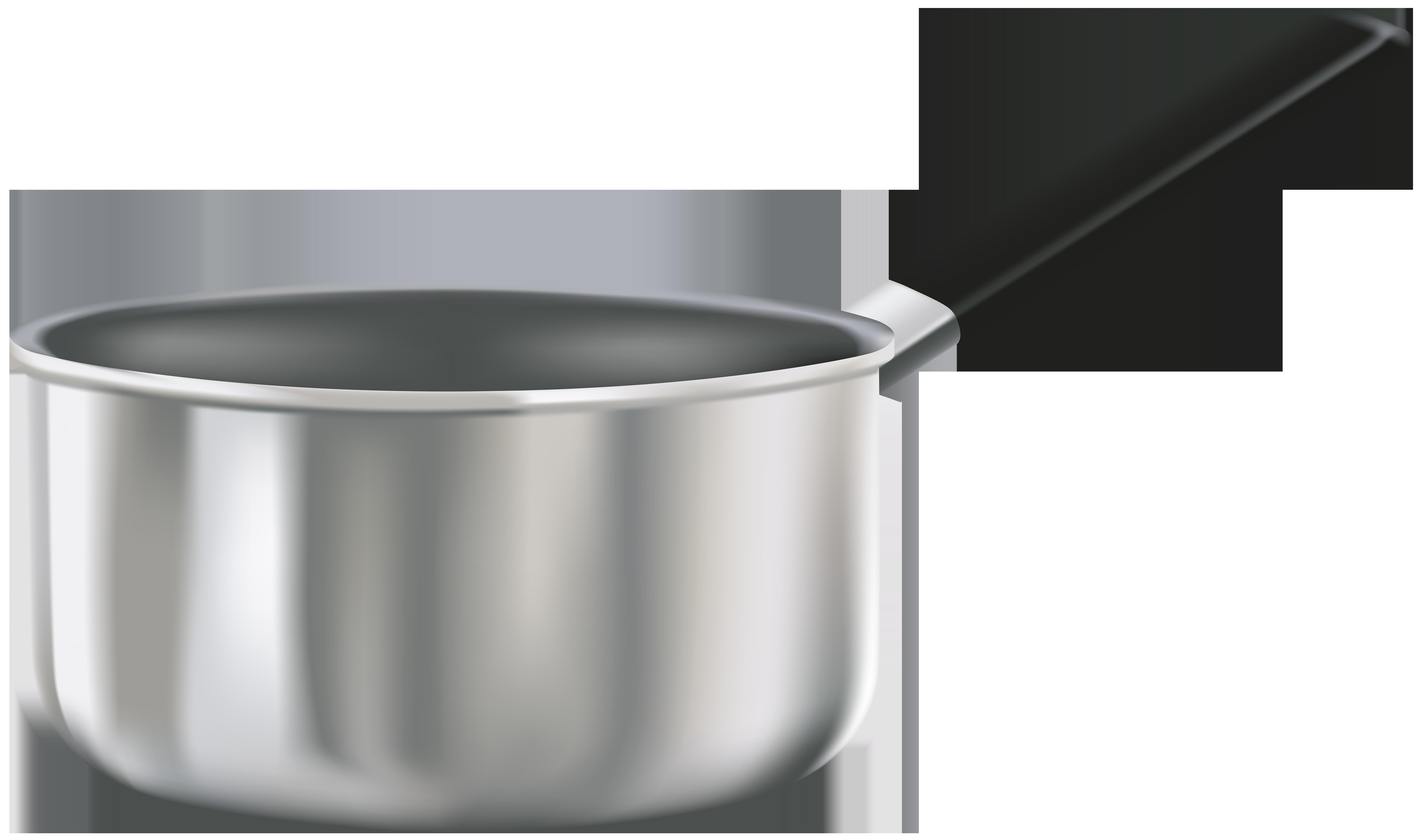 Small Soup Pot PNG Clip Art.