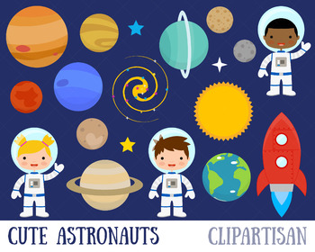 Astronaut Clip Art, Space, Planets, Solar System.