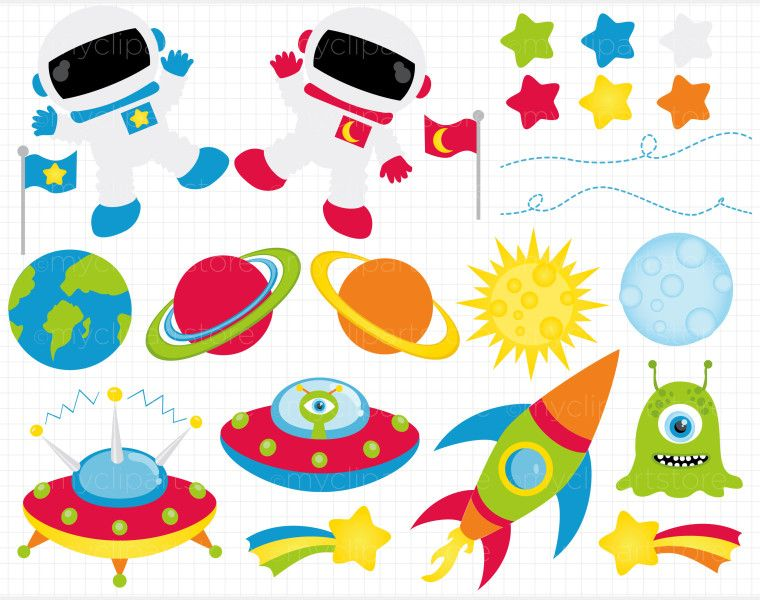 outer space clipart free.