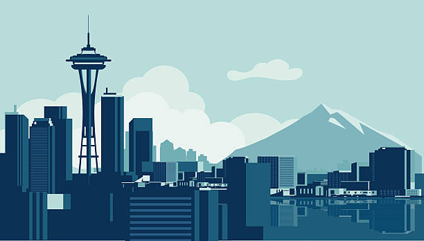 Seattle Space Needle Illustrations, Royalty.