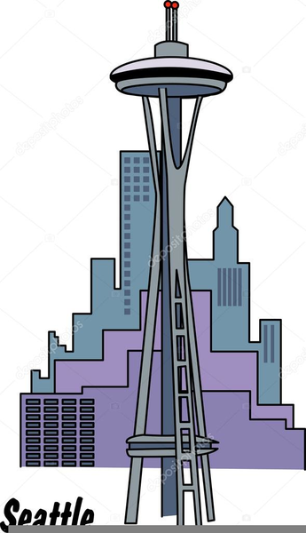 Seattle Space Needle Clipart.