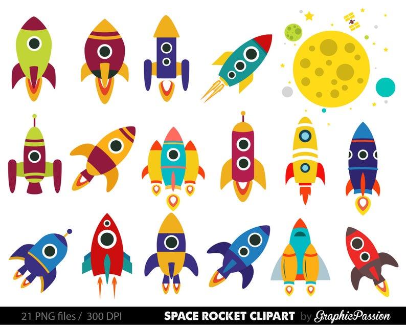 Retro Rockets Clip Art Clipart, Spaceship Rocketship Space Rocket Ship  Clipart Clip Art Vectors.