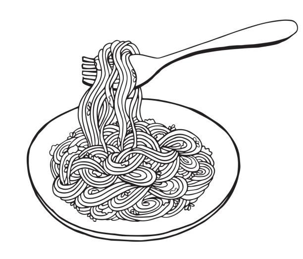 Best Spaghetti Illustrations, Royalty.