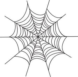 Spider Web Clipart Image: Creepy spider web Halloween graphic.