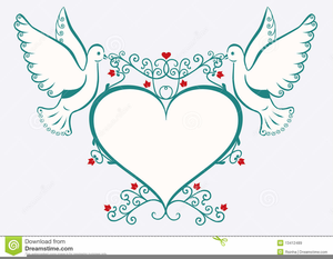 Spiritual Doves Clipart.