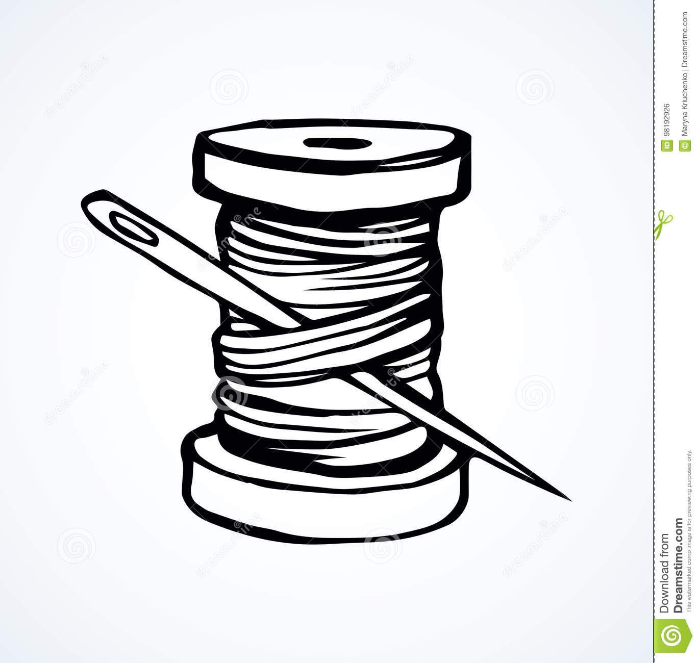 Spool Of Thread. Vector Drawing Stock Vector.