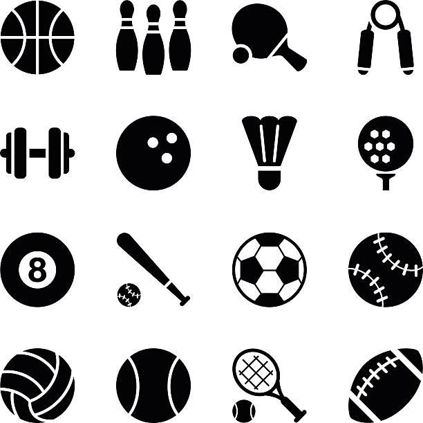 Best Sports Equipment Illustrations, Royalty.