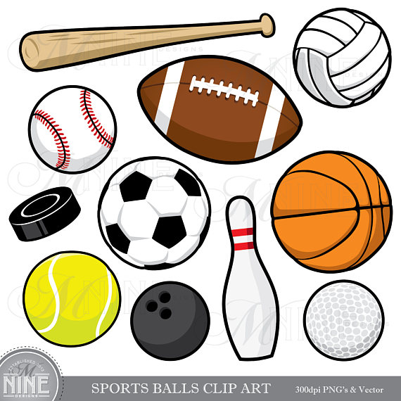 SPORTS BALLS Clip Art / Sports Balls Clipart Downloads / Sports.