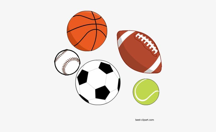 Free Sports Balls Clip Art.