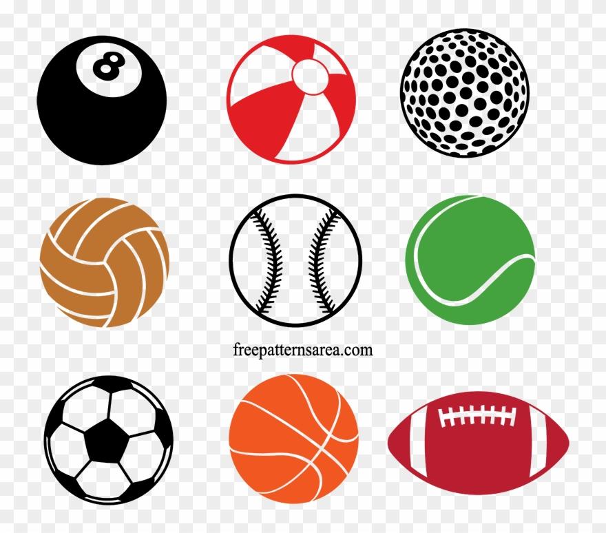 Sports Equipment Clipart Different Ball.