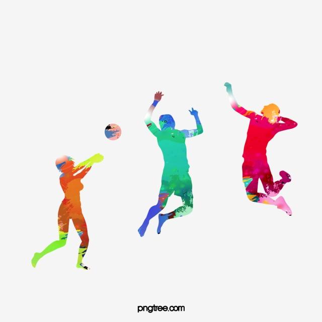 Color Sports Figures, Color Clipart, Sports Clipart, Color PNG.