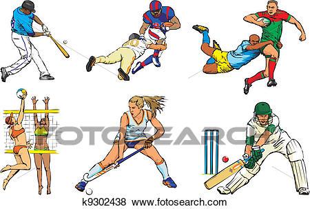 Team sport figures.