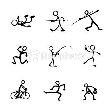 sports stick figure clip art.