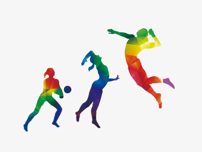 Color Sports Figures, Color Clipart, Spo #124342.
