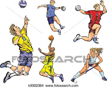 Team sports figures.
