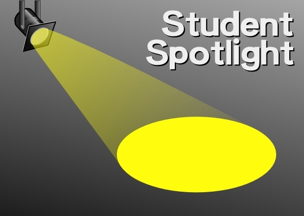 Student Spotlight clip art Free vector in Open office drawing svg.