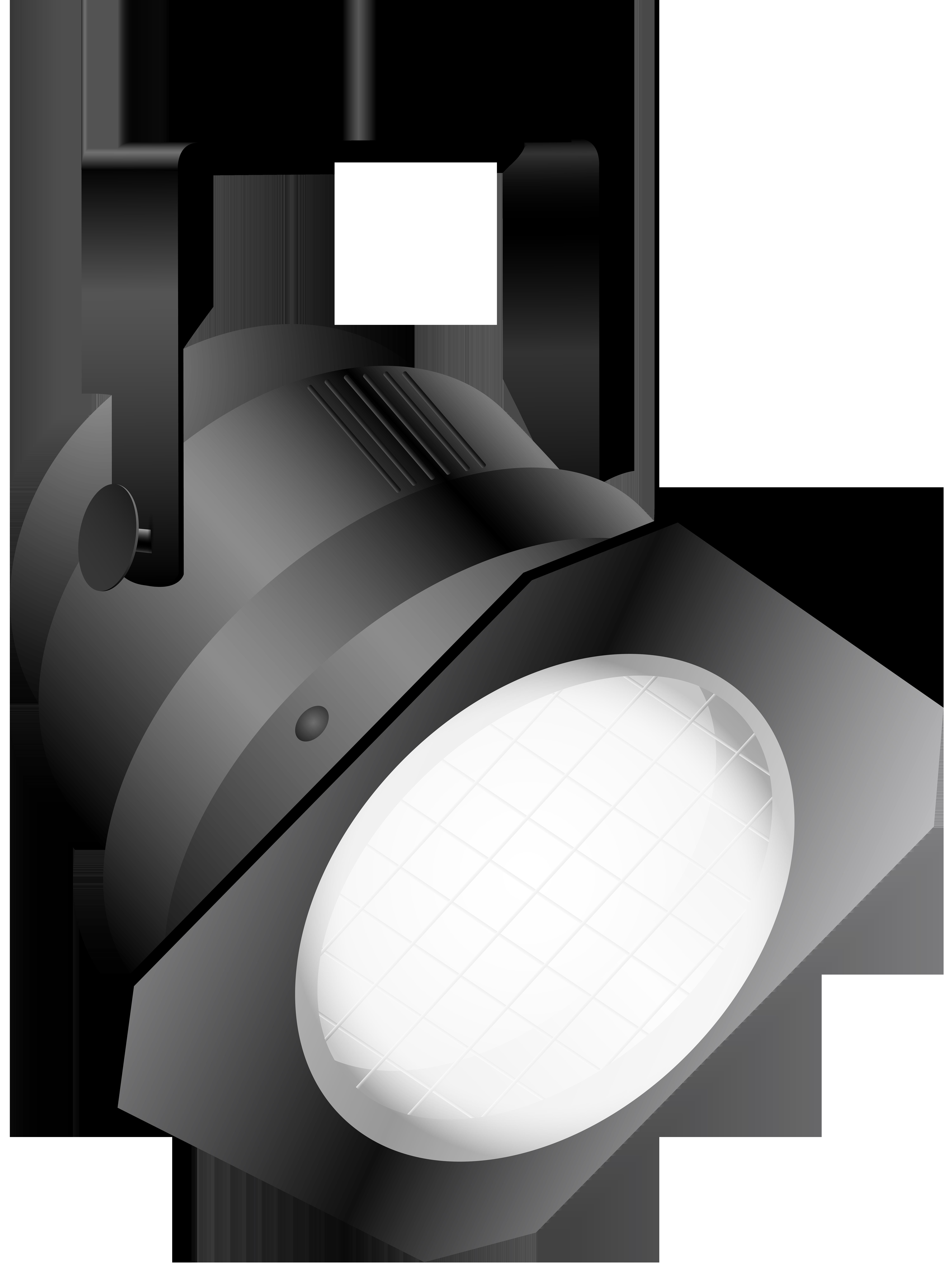 White Spotlight PNG Clip Art.