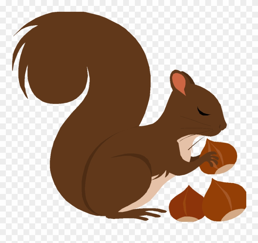 Red Squirrel Clipart Nut Clipart.
