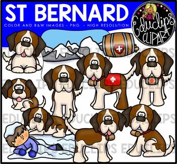 St Bernard Clip Art Bundle {Educlips Clipart}.