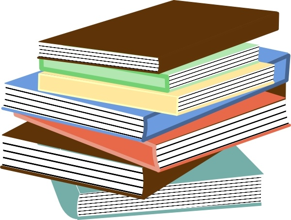Stack Of Books clip art Free vector in Open office drawing svg.