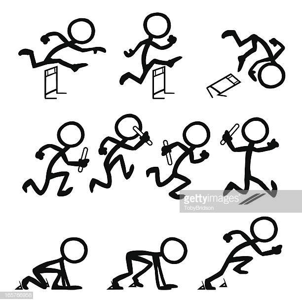 60 Top Stick Figure Running Stock Illustrations, Clip art, Cartoons.