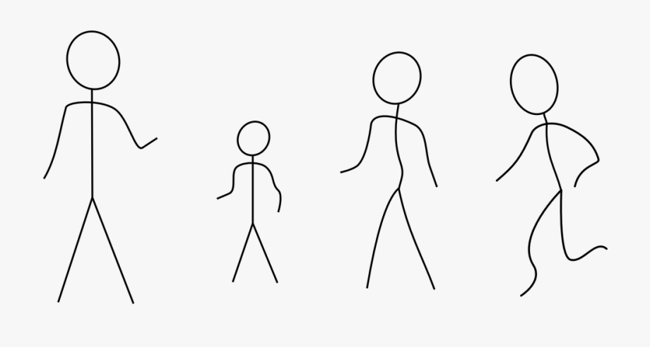 Stick Figures Family People.