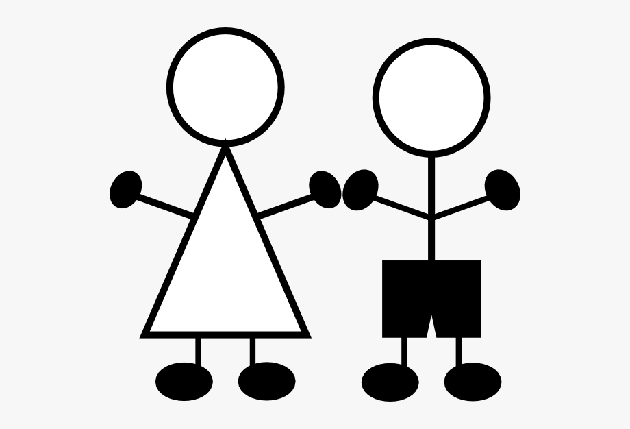 Stick Figures Girl N Boy Clip Art.