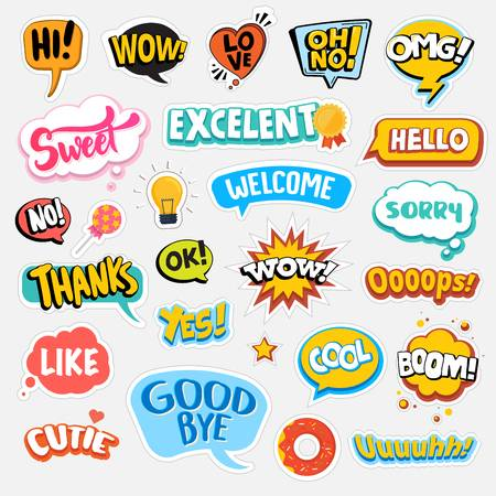 1,169,789 Sticker Cliparts, Stock Vector And Royalty Free Sticker.