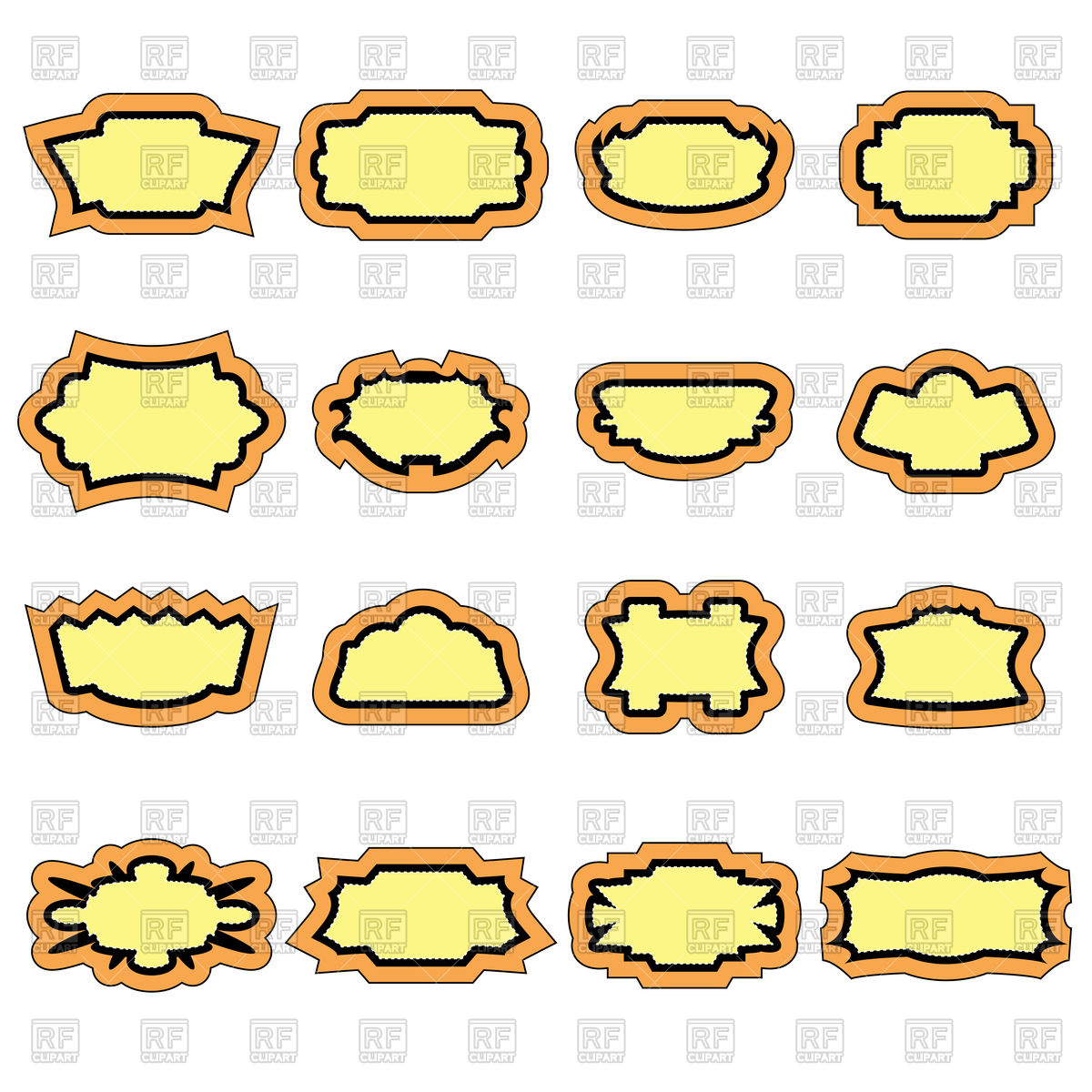 Set of vintage stickers Stock Vector Image.