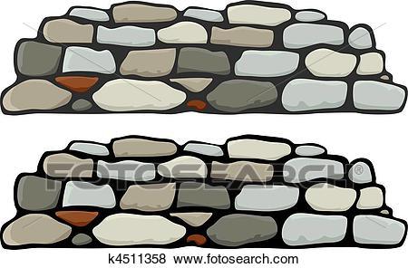 Stone Wall I Clip Art.