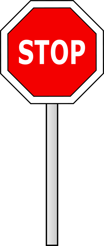 Free Clipart: Stop sign.
