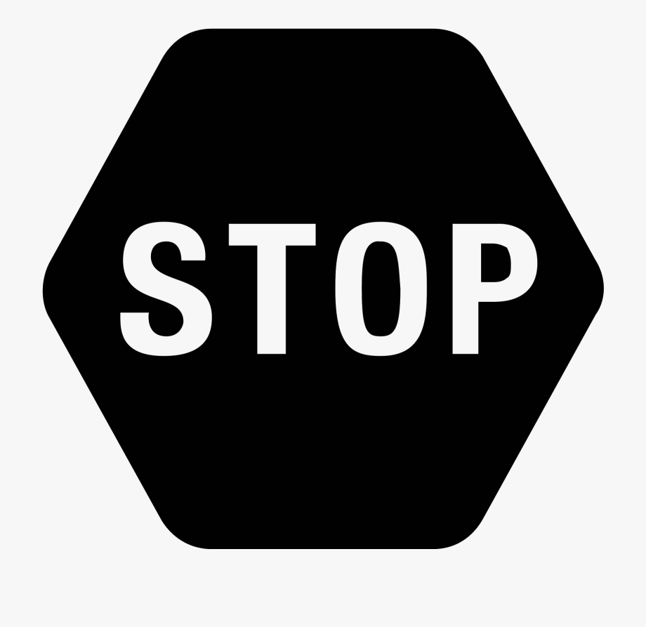 Stop Sign Clip Art Black.