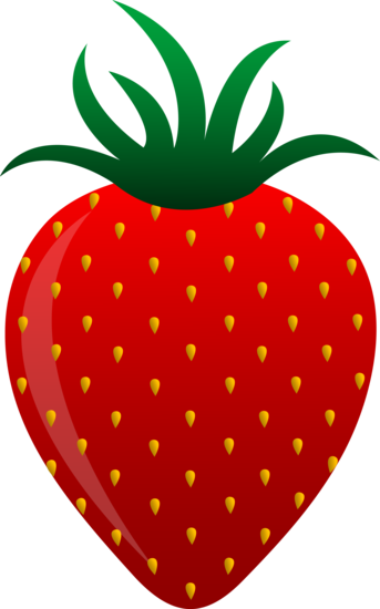 Free clip art of a sweet red strawberry.