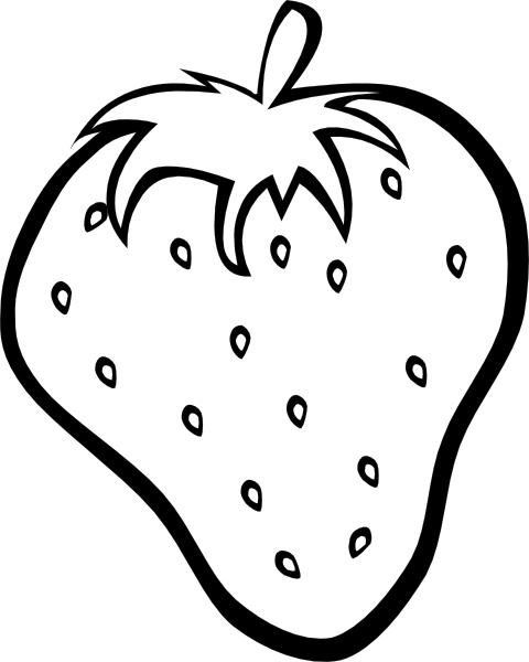 Strawberry clip art Free vector in Open office drawing svg ( .svg.