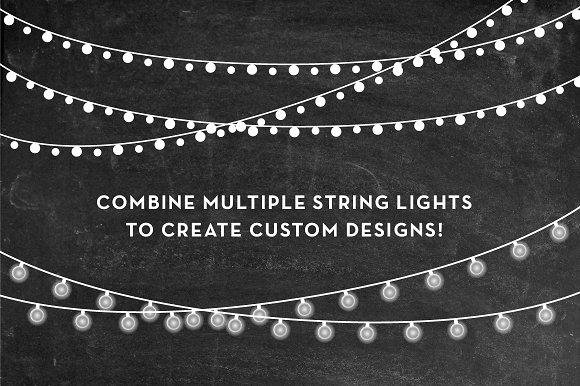 String Lights Clip Art Set.